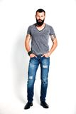 Tattooed bearded man Royalty Free Stock Images