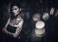 Tattooed beautiful woman Royalty Free Stock Photo