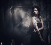 Tattooed beautiful woman Royalty Free Stock Photos