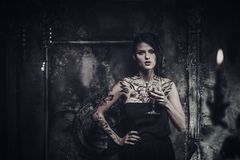 Tattooed beautiful woman Royalty Free Stock Photography