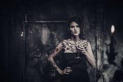 Tattooed beautiful woman Royalty Free Stock Photography