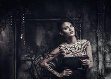 Tattooed beautiful woman Stock Photography