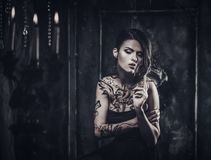 Tattooed beautiful woman Stock Photography