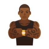 Tattooed Black Man Royalty Free Stock Image
