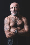 Tattooed man portrait Stock Photos
