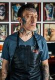 Tattooed man in studio Royalty Free Stock Photo