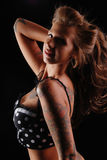 Tattooed Pin-up girl. Stock Images
