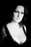 Tattooed sensual woman portrait Royalty Free Stock Photography