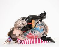 Tattooed woman Royalty Free Stock Images