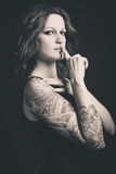 Tattooed woman portrait Royalty Free Stock Image