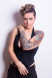 Tattooed Woman Stock Photography