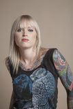 Tattooed Young Woman Royalty Free Stock Photography
