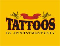Tattoos By Appointment Only Sign Royalty Free Stock Image