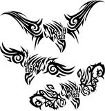 Tattoos birds of prey Royalty Free Stock Image