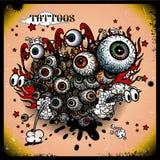 Tattoos eye explosion Stock Photos