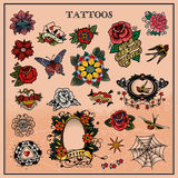 Tattoos, floral, flower Royalty Free Stock Photography