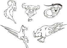 Tattoos - miscellaneous animals Stock Image
