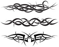 Tattoos set. Patterns of tribal tattoo for design use Stock Image