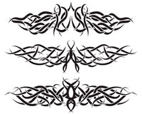 Tattoos set. Patterns of tribal tattoo for design use Royalty Free Stock Image