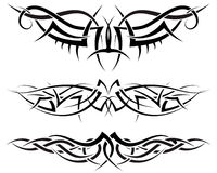 Tattoos set. Patterns of tribal tattoo for design use Royalty Free Stock Photo