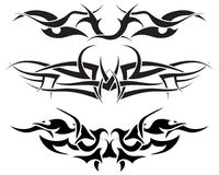 Tattoos set. Patterns of tribal tattoo for design use Stock Photography