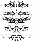 Tattoos set stock images