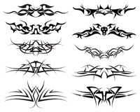 Tattoos set. Patterns of tribal tattoo for design use Royalty Free Stock Photography