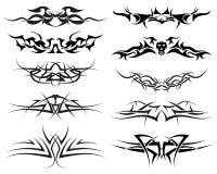 Tattoos set royalty free stock photography