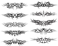 Tattoos set. Patterns of tribal tattoo for design use Royalty Free Stock Photos