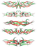 Tattoos set. Patterns of tribal tattoo for design use Stock Photos