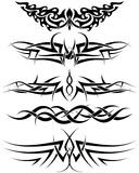 Tattoos set. Patterns of tribal tattoo for design use Stock Images