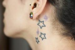 tattu αστεριών Στοκ Εικόνες