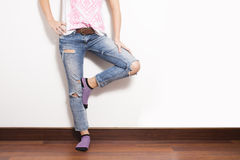 Tatty Jeans Royalty Free Stock Photography