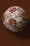 Tatty old soccer ball. Old soccer ball Stock Images