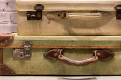 Tatty Suitcases Royalty Free Stock Photos