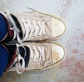 Tatty trainers Royalty Free Stock Photo