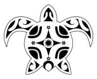 Tatuaż żółw, plemienny polynesian Zdjęcie Royalty Free