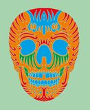 Tatuaż czaszki wektoru plemienna meksykańska sztuka Obraz Stock