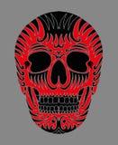 Tatuaż czaszki wektoru plemienna meksykańska sztuka Obrazy Stock