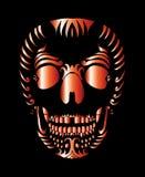 Tatuaż czaszki wektoru plemienna meksykańska sztuka Fotografia Stock