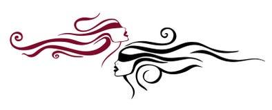 tatuaż kobiety dwa Zdjęcie Royalty Free