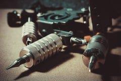 Tatuaż maszynowa stal, tatuażu atrament fotografia stock