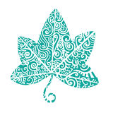 tatuaż plemienny Bluszcza liść Obrazy Royalty Free