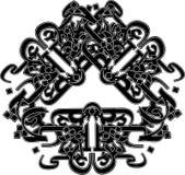 tatuaż plemienny styl Zdjęcia Royalty Free