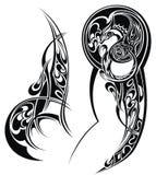 Tatuaż z abstrakta stylu projektem Tatuaż ręka Fotografia Stock