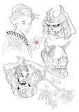 Tatuażu japończyk Style-1 Zdjęcie Royalty Free