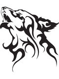 tatuażu wilk ilustracja wektor