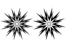Tatuaży ornamenty, abstrakcjonistyczny słońce, kwiat Obraz Stock