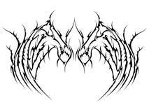 tatuaży skrzydła Zdjęcia Stock