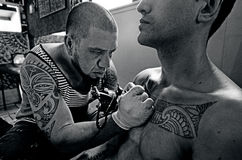 Tatuaż grafika Obrazy Royalty Free